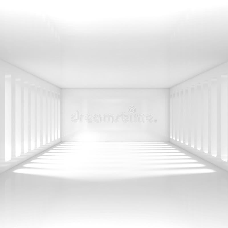 Interior blanco vacío stock de ilustración