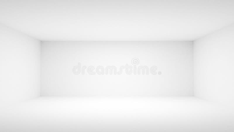 Interior blanco vacío abstracto. Vista delantera ilustración del vector