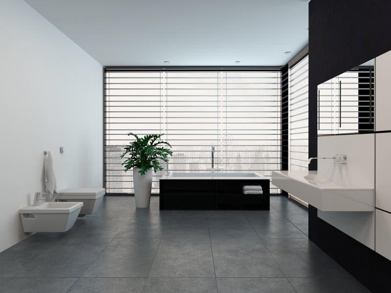gallery of excellent interior blanco y negro moderno de lujo del cuarto de bao stock de ilustracin with decoracion cuartos de bao modernos with decoracion - Cuartos De Bao Modernos