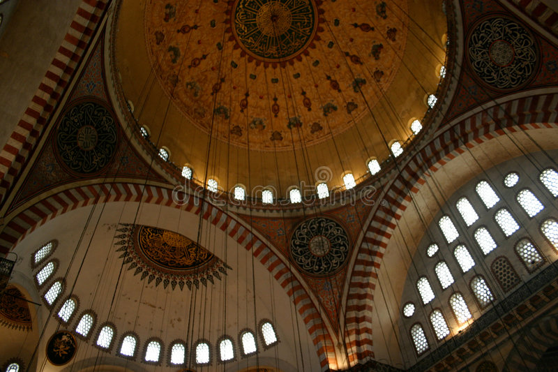 Interior Blue Mosque, istanbul royalty free stock photo