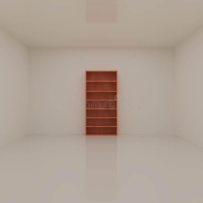 Download Interior with Bookshelf stock illustration. Image of residential - 16340278