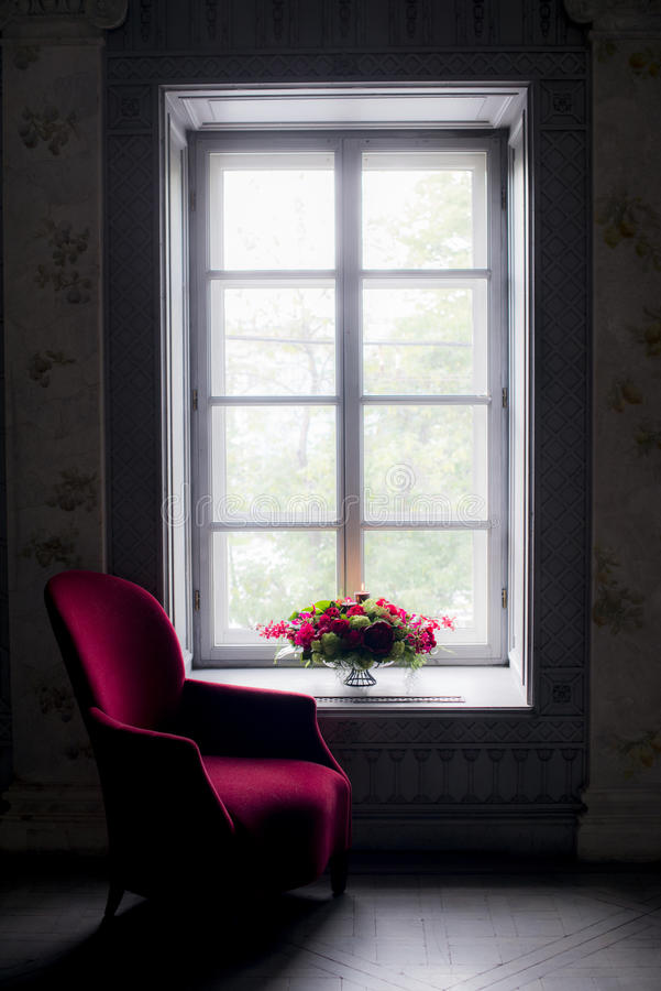 Interior with a bouquet royalty free stock photo