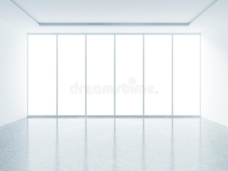 Interior branco ilustração do vetor