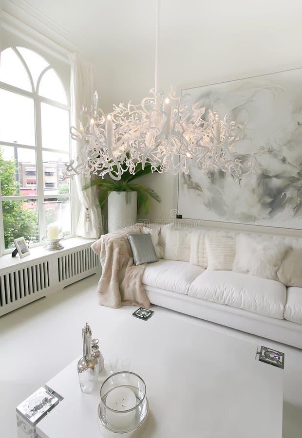 Interior branco imagem de stock royalty free