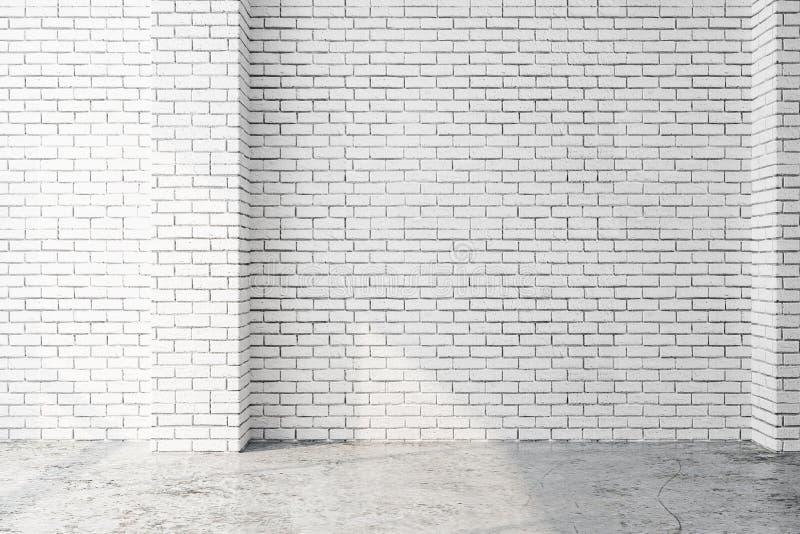 Interior branco com parede vazia ilustração royalty free