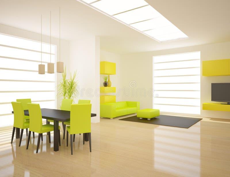 Interior branco do projeto moderno ilustração do vetor