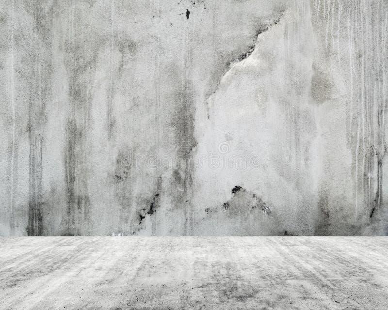 Interior branco vazio abstrato, muro de cimento foto de stock