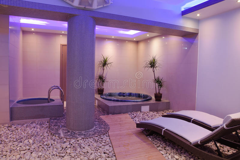 Interior brandnew do salão de beleza imagem de stock royalty free