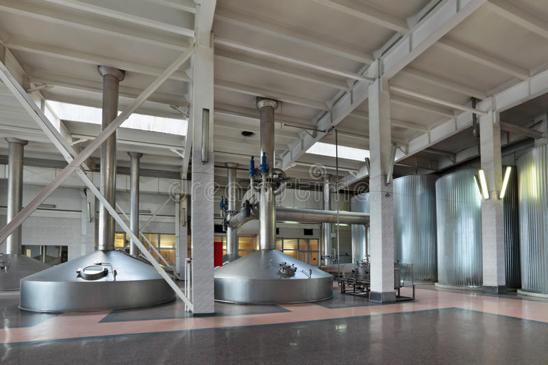 Interior Of The Brewery Royalty Free Stock Photos