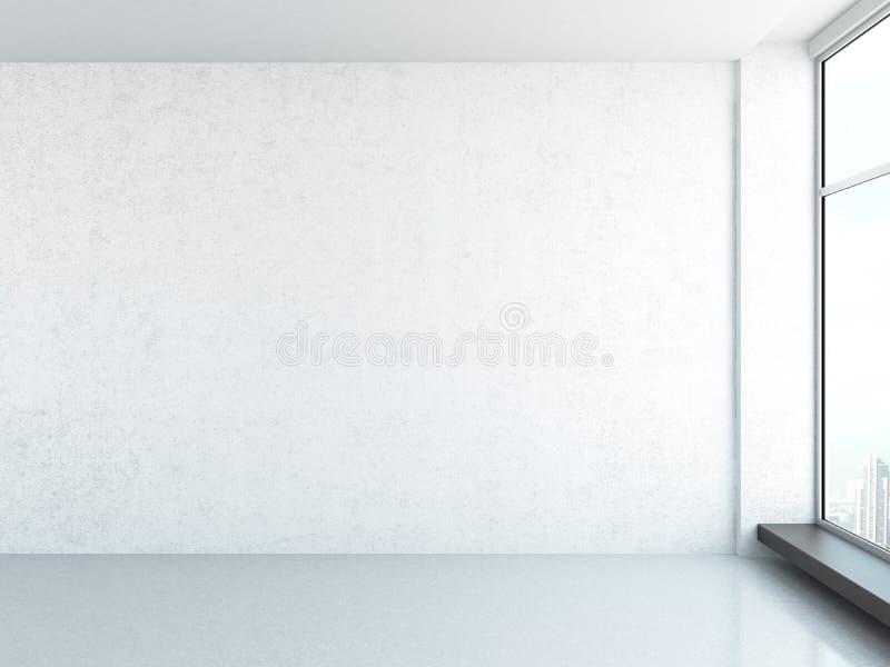 Interior brilhante com janela ilustração stock