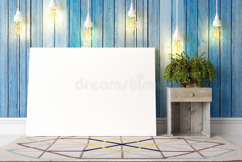 Download Interior Brilhante Moderno 3d Rendem Ilustração Stock - Ilustração de galeria, vazio: 65581478