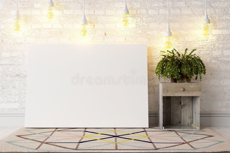 Download Interior Brilhante Moderno 3d Rendem Ilustração Stock - Ilustração de bandeira, placa: 65581498
