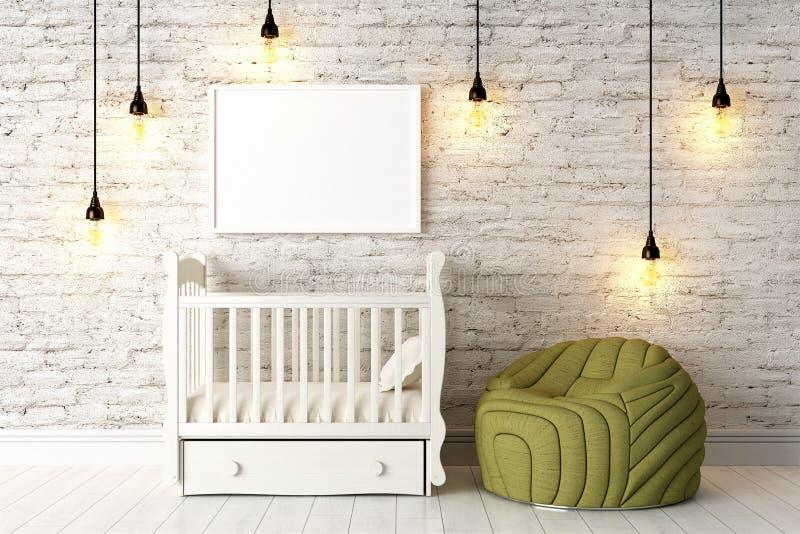 Download Interior Brilhante Moderno 3d Rendem Ilustração Stock - Ilustração de blank, closeup: 65581507
