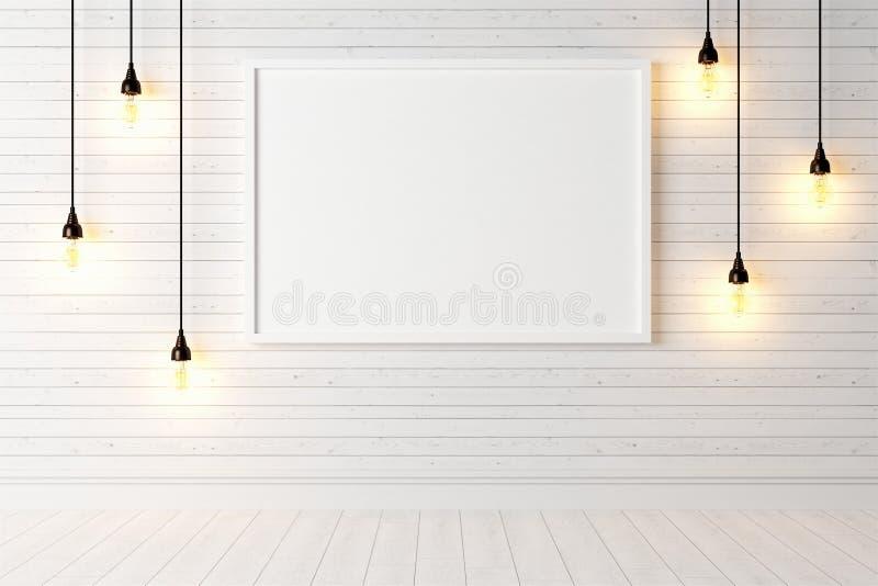 Download Interior Brilhante Moderno 3d Rendem Ilustração Stock - Ilustração de lâmpada, preto: 65581509