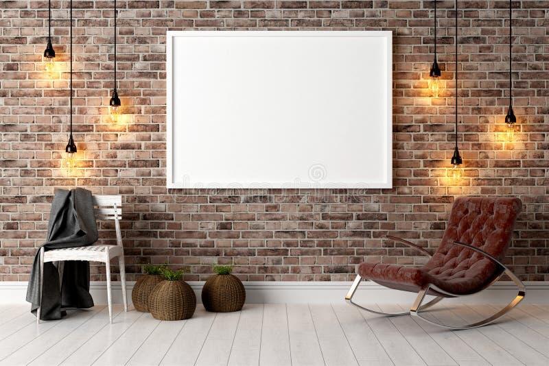 Download Interior Brilhante Moderno 3d Rendem Ilustração Stock - Ilustração de dentro, conceito: 65581523