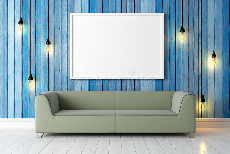 Download Interior Brilhante Moderno 3d Rendem Ilustração Stock - Ilustração de placa, cimento: 65581563