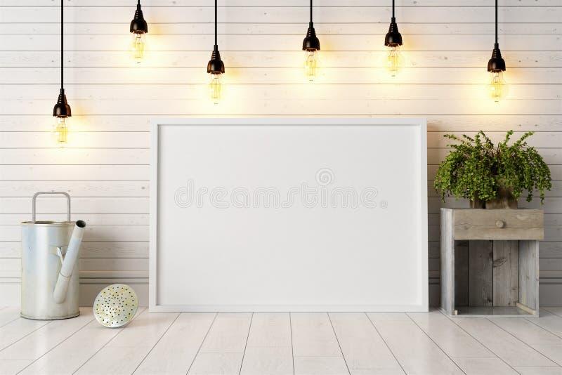 Download Interior Brilhante Moderno 3d Rendem Ilustração Stock - Ilustração de lâmpada, flor: 65581565