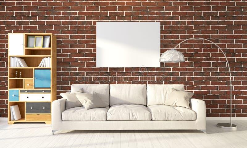 Interior brilhante moderno rendição 3d imagens de stock royalty free