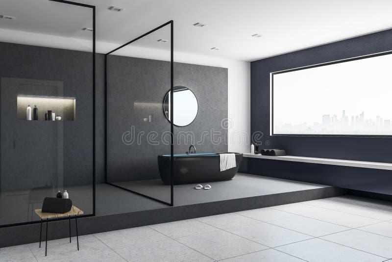 Interior brillante del cuarto de baño stock de ilustración