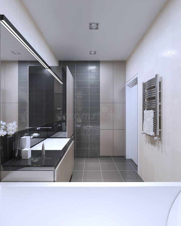 Interior brillante del cuarto de baño ilustración del vector