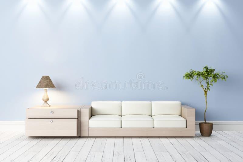 Interior brillante moderno ilustración del vector
