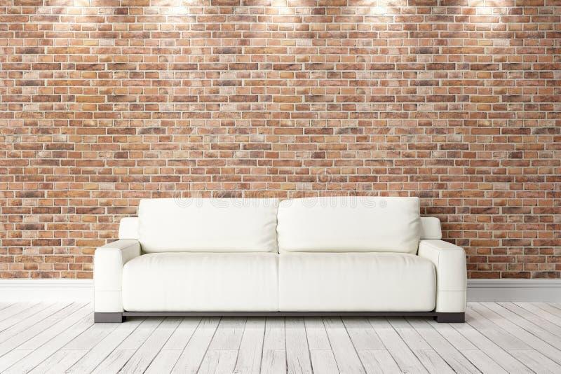 Interior brillante moderno 3d rinden imagen de archivo