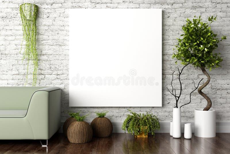 Interior brillante moderno 3d rinden foto de archivo