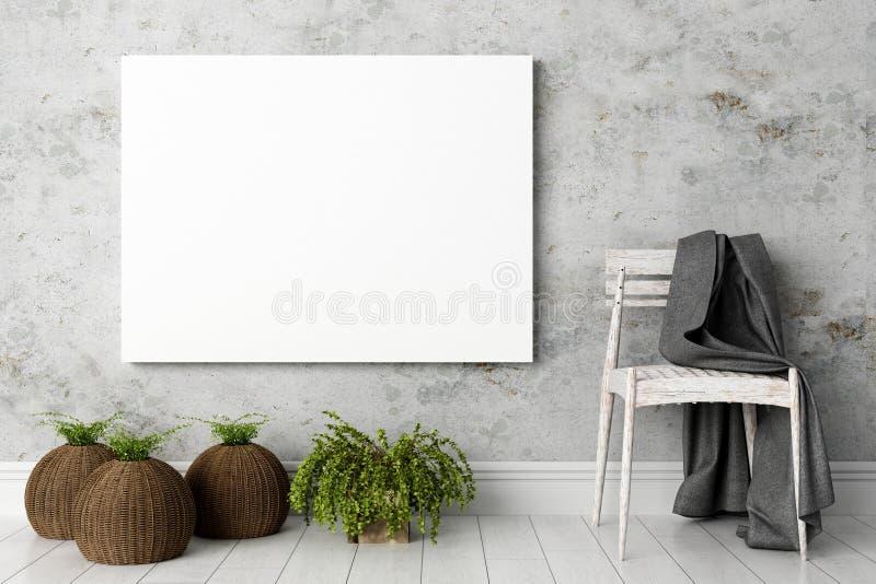 Interior brillante moderno 3d rinden foto de archivo libre de regalías