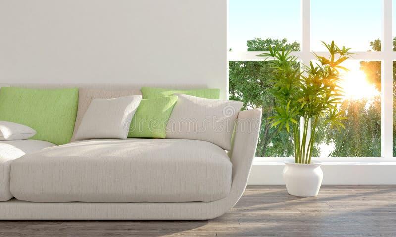 Interior brillante moderno 3d rinden libre illustration