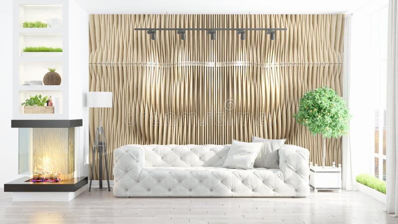 Interior brillante moderno representación 3d libre illustration