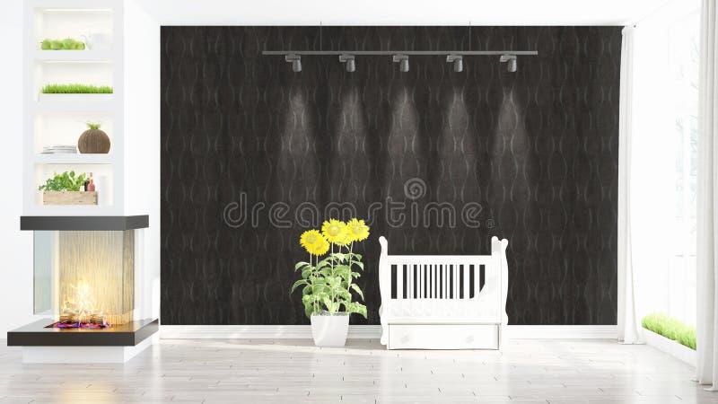 Interior brillante moderno representación 3d ilustración del vector