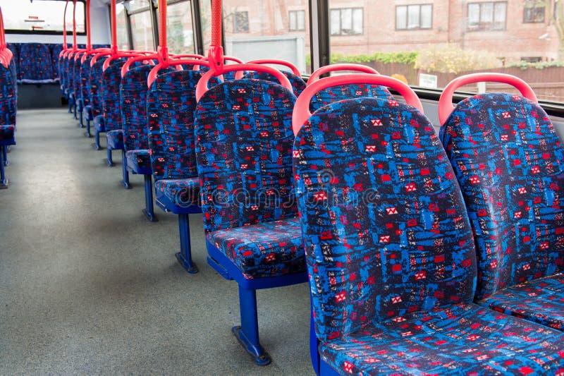 Interior británico del autobús fotos de archivo libres de regalías