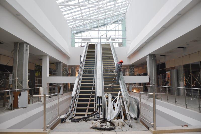 Download Interior building stock photo. Image of builder, escalator - 11650462