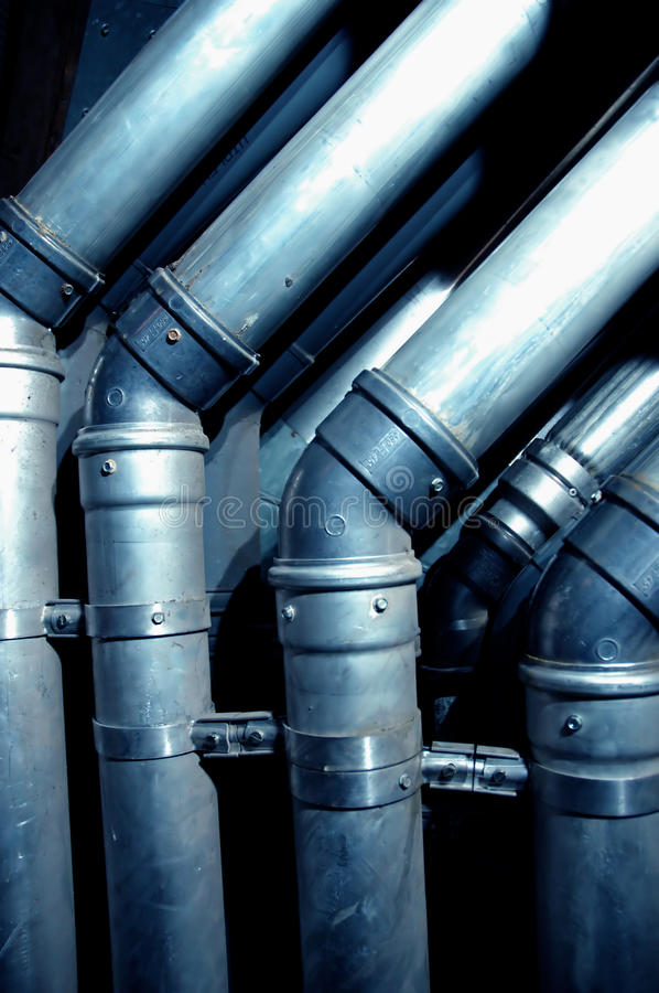 Interior building pipes royalty free stock photo