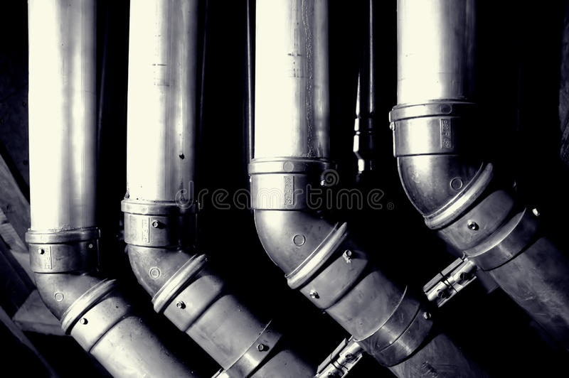 Interior building pipes royalty free stock photography