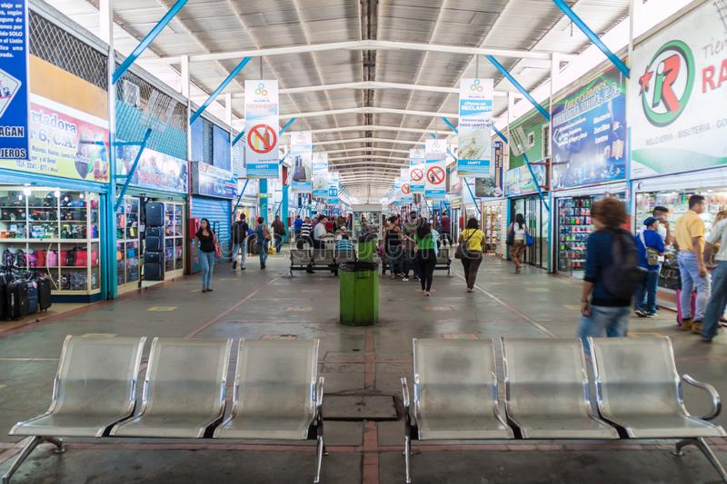 Interior of a Bus station in Valencia royalty free stock photo