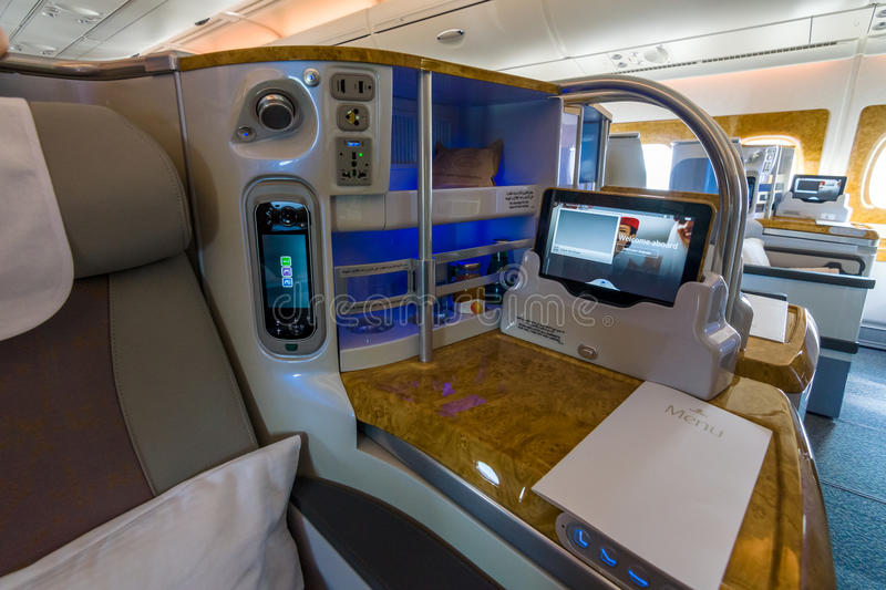 Interior of business class of the world 39 s largest aircraft for World class photos pictures