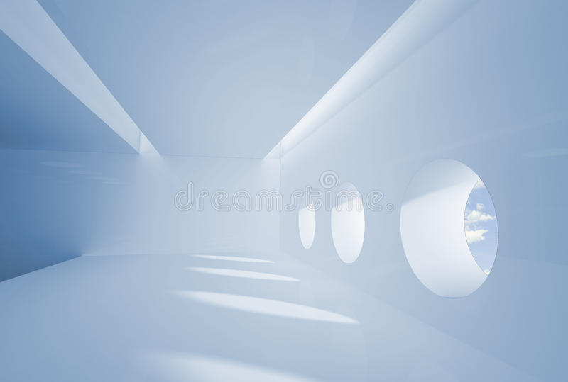 Interior in business colors royalty free stock photo
