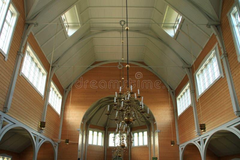 Interior of the Busknes church royalty free stock photo