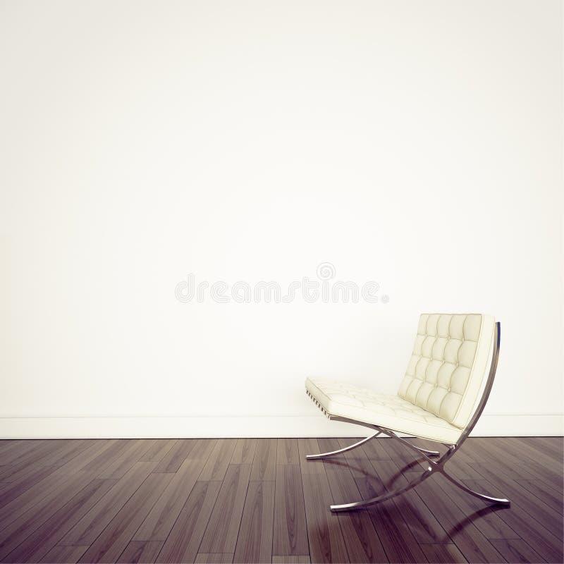 Interior cómodo moderno con la representación 3d stock de ilustración