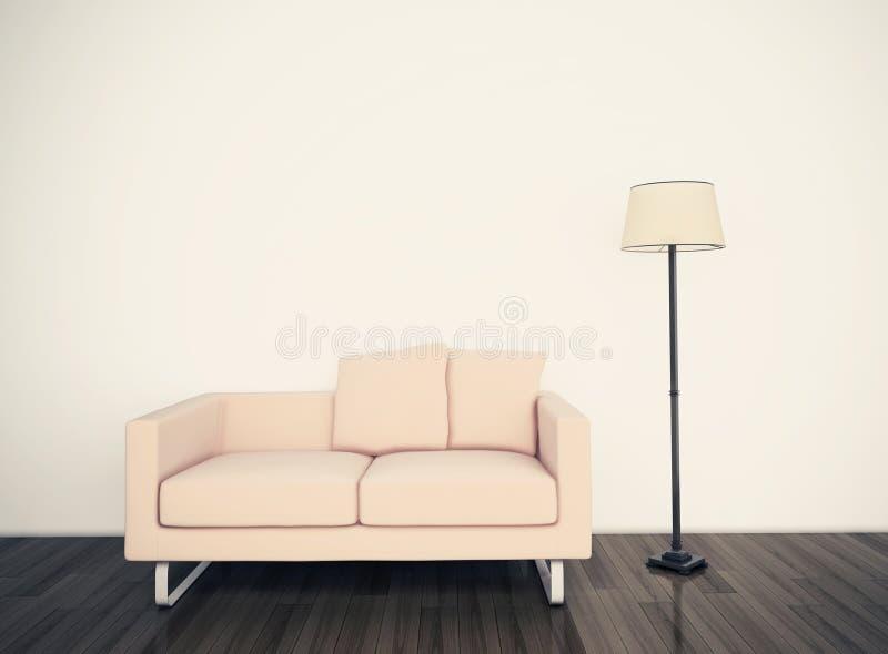Interior cómodo moderno con la representación 3d fotografía de archivo libre de regalías