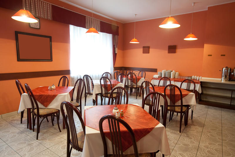 Interior of cafe. Interior of low cost cafe royalty free stock image