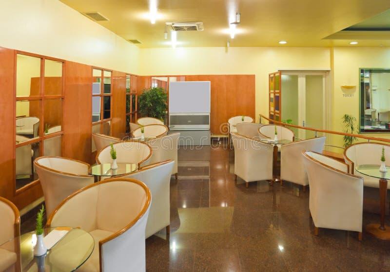 Interior of a cafe bar. Modern interior of a cafe bar stock photos