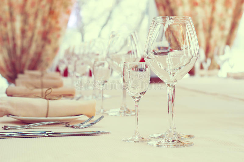Interior of the cafe . table setting. Interior of the cafe in the style of Provence. table setting stock images