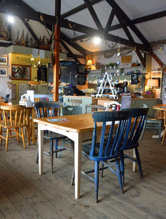 Interior of cafe with tables and chairs royalty free stock photography