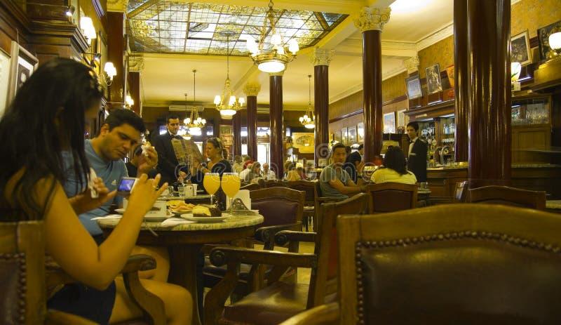 Interior of Cafe Tortoni royalty free stock photo