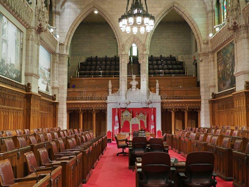 Interior canadense do edifício do parlamento foto de stock royalty free