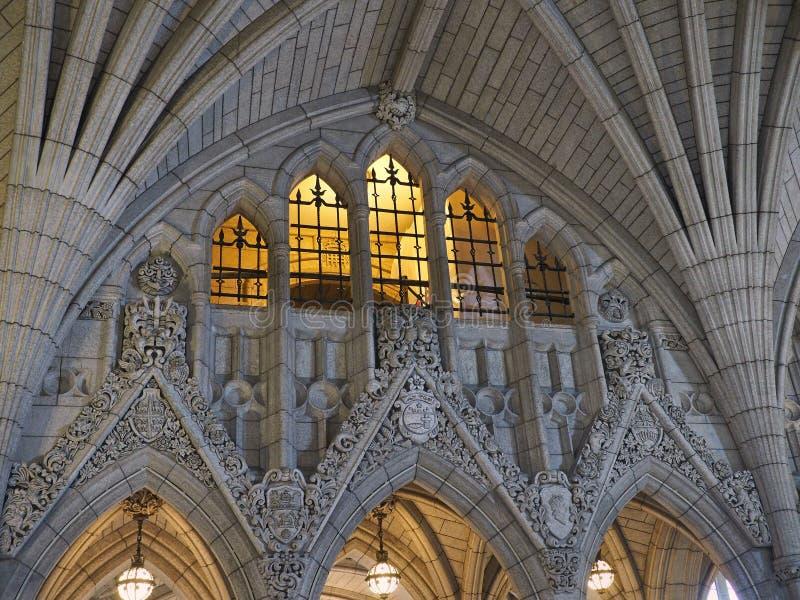 Interior canadense do edifício do parlamento imagem de stock