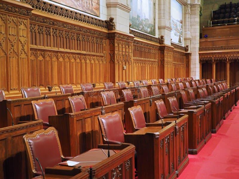 Interior canadense do edifício do parlamento imagens de stock royalty free