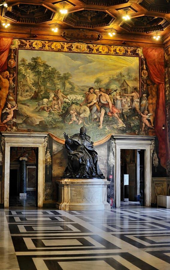 Interior of the Capitoline Museum, Rome stock photos